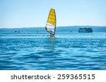 island coastline with man... | Shutterstock . vector #259365515