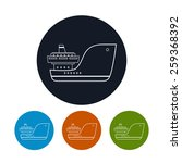 icon  cargo ship    four types...   Shutterstock .eps vector #259368392