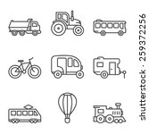 transport icons  simple and... | Shutterstock .eps vector #259372256