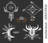bohemian designs. vector set. | Shutterstock .eps vector #259375532