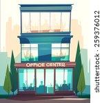 business building facade.... | Shutterstock .eps vector #259376012