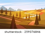 natural landscape. vector... | Shutterstock .eps vector #259376846