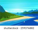 seashore landscape. vector... | Shutterstock .eps vector #259376882