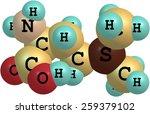 vitamin u  s methylmethionine ... | Shutterstock . vector #259379102