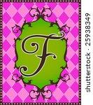 boutique alphabet letter f | Shutterstock .eps vector #25938349