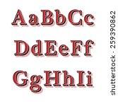retro style reliefed alphabet...   Shutterstock .eps vector #259390862