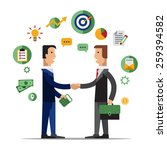 successful partnership ... | Shutterstock .eps vector #259394582