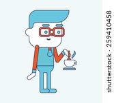 character illustration design.... | Shutterstock . vector #259410458