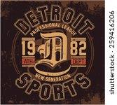 detroit   vector graphics and... | Shutterstock .eps vector #259416206