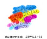 abstract color blots texture... | Shutterstock . vector #259418498