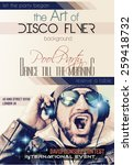 disco night club flyer layout... | Shutterstock .eps vector #259418732