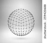 wireframe mesh polygonal... | Shutterstock .eps vector #259420688