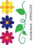 Spring Flowers   Vector Art