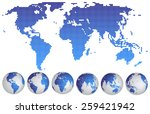 vector illustration of world... | Shutterstock .eps vector #259421942