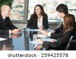 job meeting | Shutterstock . vector #259425578