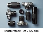 collection of vintage cameras...   Shutterstock . vector #259427588