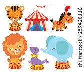 retro circus vector illustration | Shutterstock .eps vector #259428116
