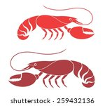 lobster icon. abstract lobsters ... | Shutterstock .eps vector #259432136