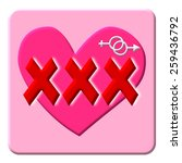 xxx on pink heart and sex... | Shutterstock . vector #259436792