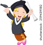 A Young Graduate Girl Holding...