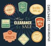 vector sale labels. vintage... | Shutterstock .eps vector #259471892