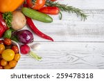 different vegetables and herbs... | Shutterstock . vector #259478318