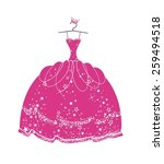 beautiful dress for a princess | Shutterstock . vector #259494518