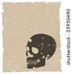 the brown vector grunge skull...   Shutterstock .eps vector #25950490