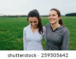 young adult female runners arms ... | Shutterstock . vector #259505642