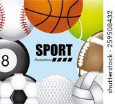 balls sport design  vector... | Shutterstock .eps vector #259508432