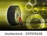 3d tires replacement concept   | Shutterstock . vector #259509638
