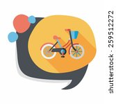 transportation bicycle flat... | Shutterstock .eps vector #259512272