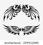 Tribal Wings Free Vector Art 1984 Free Downloads