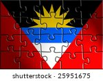 flag of antigua national... | Shutterstock . vector #25951675