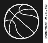 doodle basketball | Shutterstock . vector #259517552