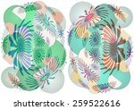 delicate   unique  colorful  ... | Shutterstock . vector #259522616