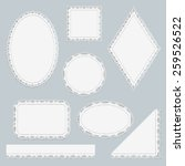 set of white lace frames... | Shutterstock .eps vector #259526522
