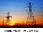 the evening electricity pylon...