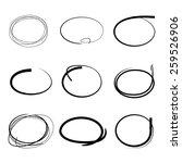 hand draw circles set | Shutterstock .eps vector #259526906