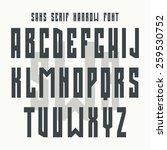 Bold Sanserif Font In Retro...