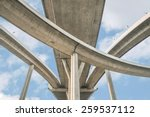elevated expressway. the curve... | Shutterstock . vector #259537112