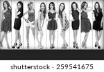 beautiful young women in... | Shutterstock . vector #259541675