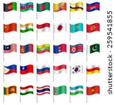 world flags on pole asia part 4 ... | Shutterstock .eps vector #259541855
