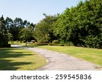 Stone Pathway Into Garden...