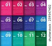 2016 calendar simple design | Shutterstock .eps vector #259547402