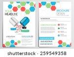 medical brochure design... | Shutterstock .eps vector #259549358