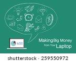 laptop icon. flat design style...   Shutterstock .eps vector #259550972
