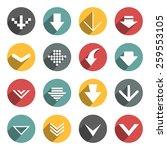 set of flat arrow buttons.