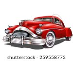 retro car. | Shutterstock .eps vector #259558772