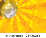 orange mirror disco ball.... | Shutterstock .eps vector #25956265